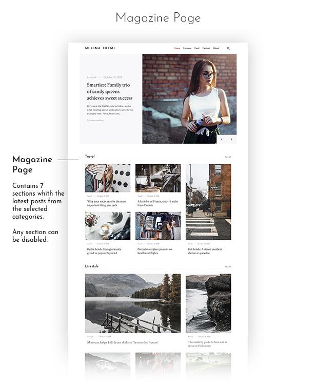 Melina - Personal Blog & Magazine WordPress Theme - 5